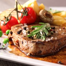 Sirloin Steak with Grilled Aubergines