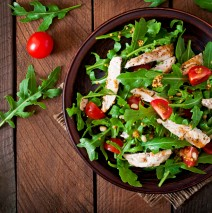 Chicken Breast with Arugula & Tomato