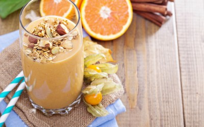 Pumpkin Smoothie with Pumpkin Granola